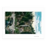 Multnomah Falls with Benson and Highway Bridges Postcard