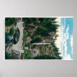 Multnomah Falls with Benson and Highway Bridges Print