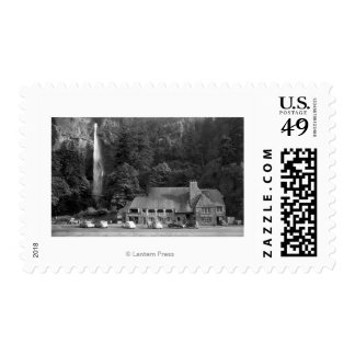 Multnomah Lodge and Falls Photograph Postage