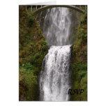 Multomah Falls with Bridge Wedding Greeting Card