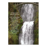 Multomah Falls with Bridge Wedding Personalized Announcements