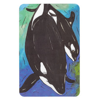 Mum and Bub Orcas Magnet