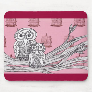 Mum and Bub Owls 4 Mouse Pad