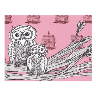 Mum and Bub Owls 4 Postcard