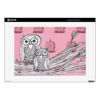 Mum and Bub Owls 4 Decal For Laptop