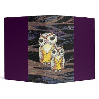 Mum and Bub Owls binder