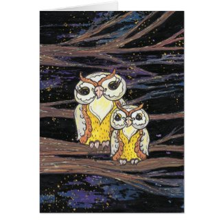 Mum and Bub owls card