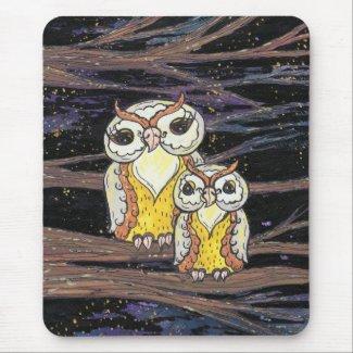 Mum and Bub Owls mousepad