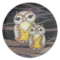 Mum and Bub Owls Plate