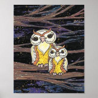Mum and Bub Owls Print