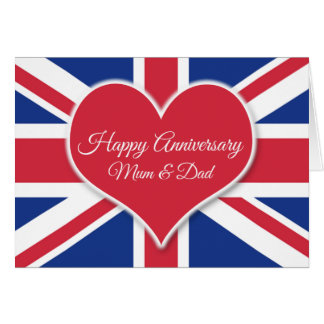 Mum and Dad Happy Anniversary-For British Couples Card