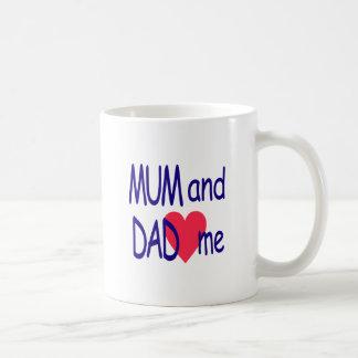 Mum and dad me, mom coffee mug
