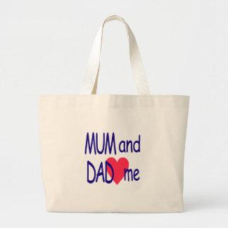 Mum and dad me, mom large tote bag