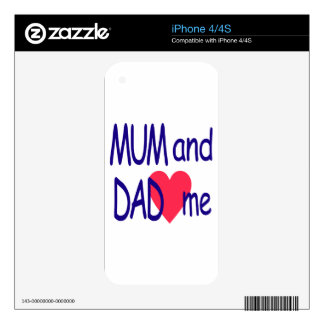Mum and dad me, mom skins for the iPhone 4S