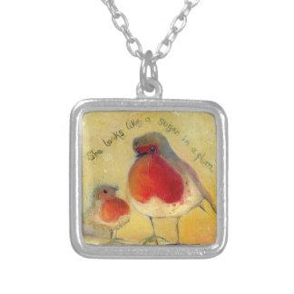 Mum and Me 2012 Square Pendant Necklace