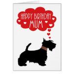 Mum Birthday With Silhouette Scottish Terrier Card