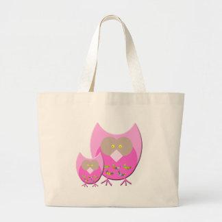 Mum & Bub owl Large Tote Bag