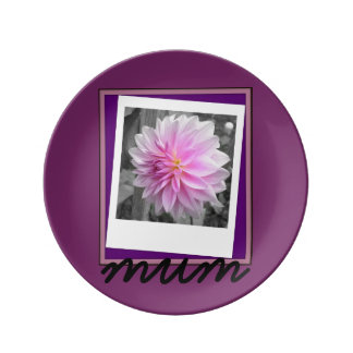 Mum Collection..Porcelain Plate Porcelain Plate