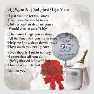 Wedding Anniversary Gift Mom And Dad : Mother And Father Wedding Anniversary Gifts on Zazzle