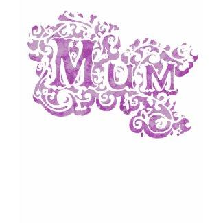 Mum decorative purple strappy top shirt