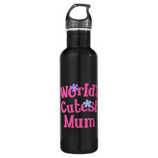 Mum For Her (Worlds Cutest) Stainless Steel Water Bottle