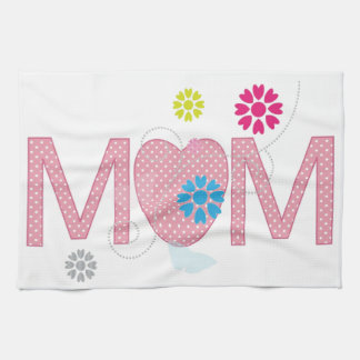 Mum Hearts And Flowers Towels
