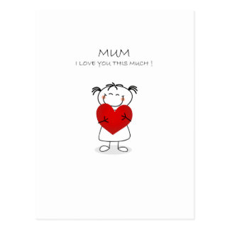 mum i love u this much postcard