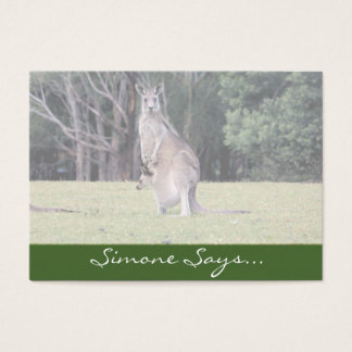 Mum Kangaroo with Baby Joey in Her Pouch Business Card