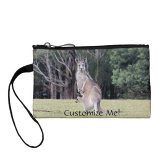 Mum Kangaroo with Baby Joey in Her Pouch Coin Purse