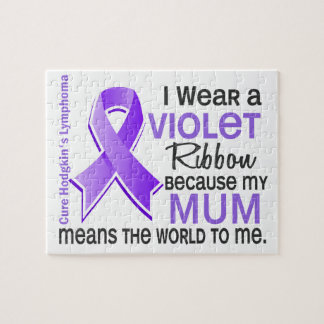 Mum Means World To Me 2 H Lymphoma Jigsaw Puzzle