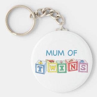 Mum of Twins Blocks Keychain