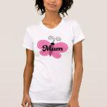 Mum Pink Butterfly T-Shirt