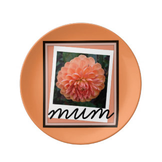 Mum Plate By: Todd D. Martin Porcelain Plates