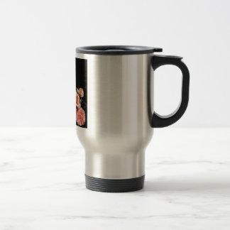 Mum Poem - Flowers on Black Silk Travel Mug