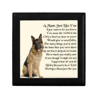 Mum Poem  -  German Shepherd Design Jewelry Box