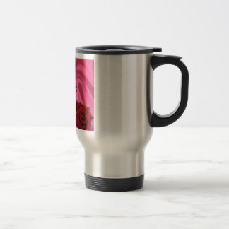 Mum Poem  -  Pink Silk & Rose Travel Mug
