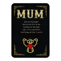 Mum sentiment keepsake card