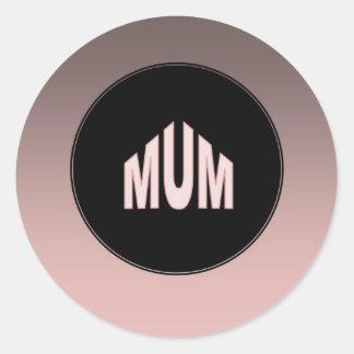 Mum Two Tone Classic Round Sticker