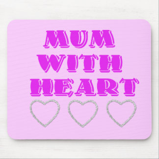 Mum with heart mouse pad