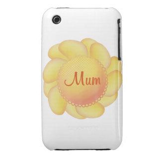 Mum (yellow flower) iPhone 3 case