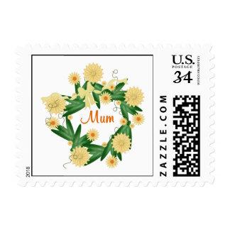 Mum (yellow wreath) stamp