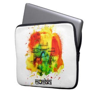 mumbai gateway of india bright watercolors computer sleeve