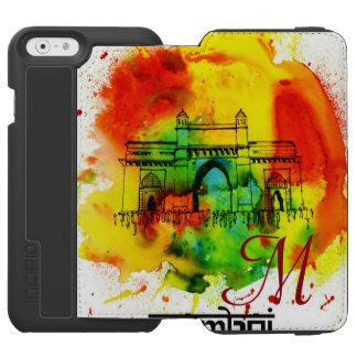 mumbai gateway of india bright watercolors iPhone 6/6s wallet case