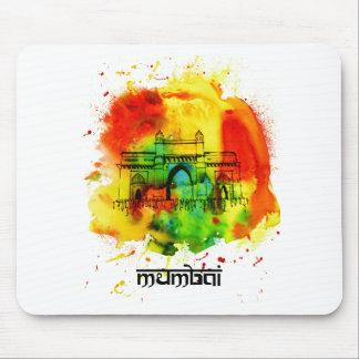 mumbai gateway of india bright watercolors mouse pad