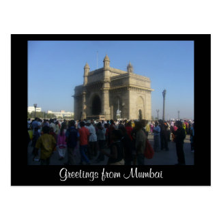 mumbai gateway postcard