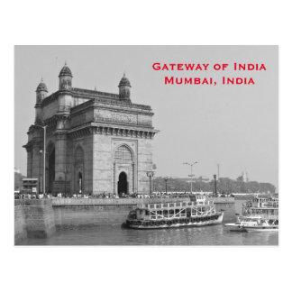 Mumbai India Vintage Tourism Travel Add Postcard