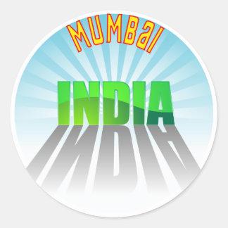 Mumbai Round Stickers