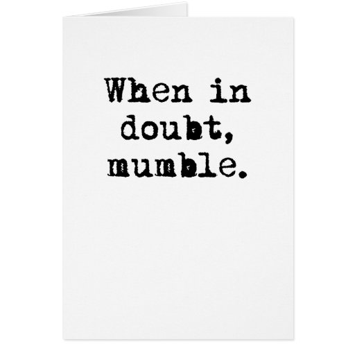 Mumble Greeting Cards