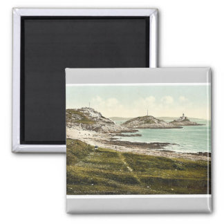 Mumbles Head Lighthouse, Mumbles, Wales rare Photo 2 Inch Square Magnet