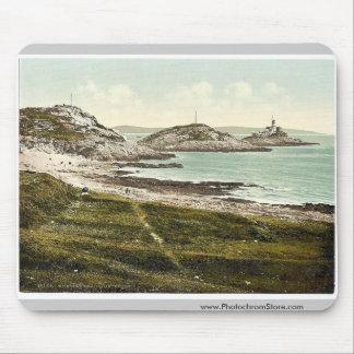 Mumbles Head Lighthouse, Mumbles, Wales rare Photo Mouse Pad